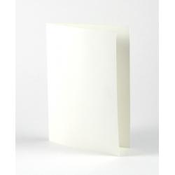 Hvidt dobbeltkort A6. 5 stk