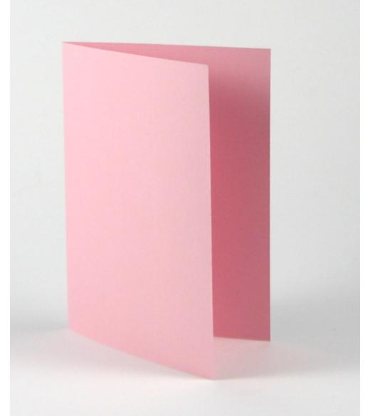Lyserødt dobbelt kort A6. 5 Stk