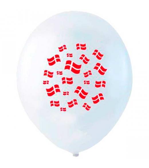 Balloner med flag 6 Stk