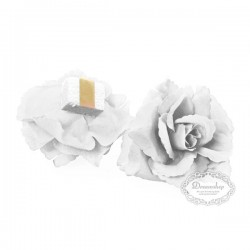 Hvide rose med klæb. 24 Stk.