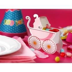 Barnevogn Gaveæske lyserød 10 Stk