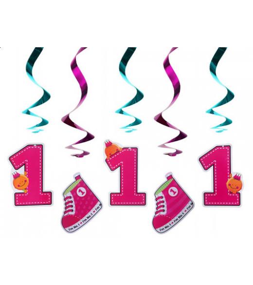 Hvirvl dekoration lyserød tal og sko