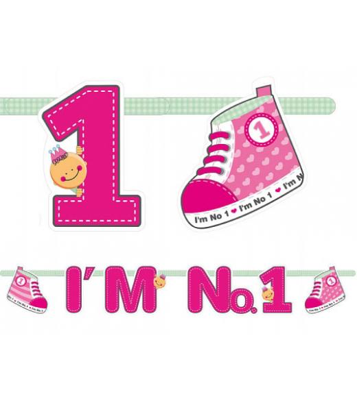 Lyserød guirlande I`m No. 1