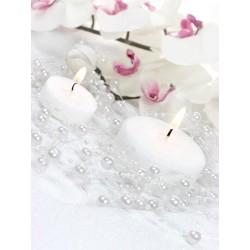 Hvid perlekæde som servietring
