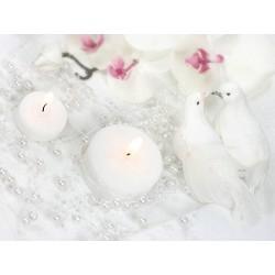 Hvid perlekæde til bryllup