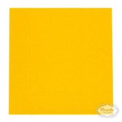 Solgule frokostservietter. 33 x 33 cm