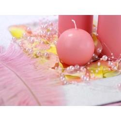 Lyserød perlekæde til barnedåb