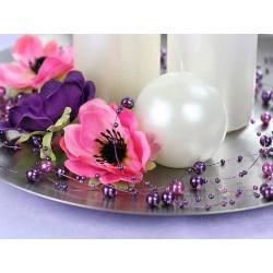 Violet perlekæde til borddækning