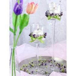 bordpynt violet perlekæde