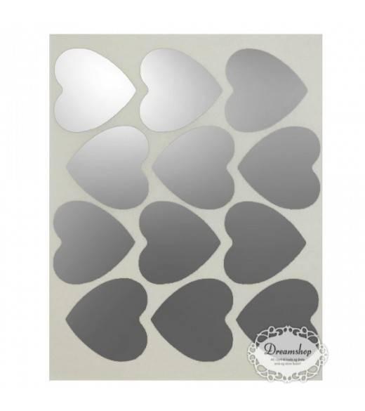 Mellem hjerte oblater sølv. 24 stk