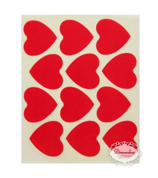 Oblater mellem hjerter rød. 24 stk