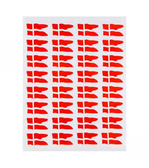 Oblater Små røde splitflag. 64 stk