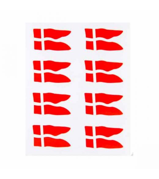 Splitflag oblater store røde. 16 stk