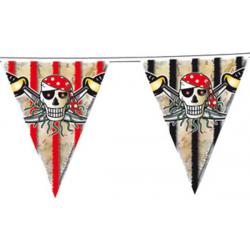 Flagbanner rød pirat