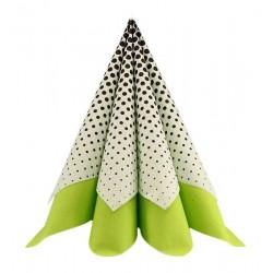 Tekstilserviet Joy kiwi - lime. 60 Stk