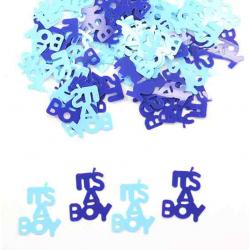 Konfetti it´s a boy, blå