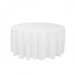 Rund borddug hvid 178 cm