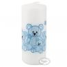 Bloklys bamser lyseblå 5 x 12 cm. 1 Stk