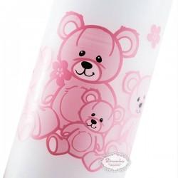 Bloklys bamser lyserød 5 x 12 cm. 1 Stk