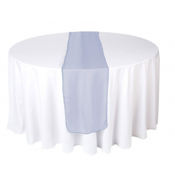 Marineblå organza bordløber