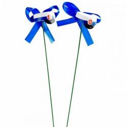 Studenterhuer blå på tråd 2 stk