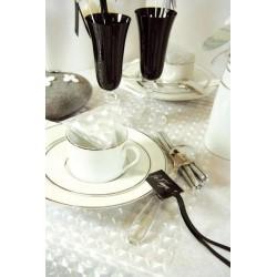Sort bordkort med satinbånd til fødselsdag