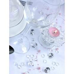 Klare pynte diamanter 12 mm. til borddækning