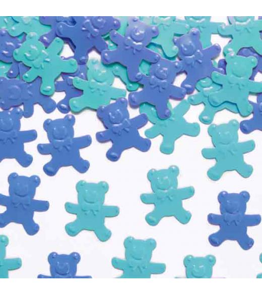 Konfetti bamser lyseblå og blå