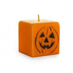 Bloklys Halloween orange græskar