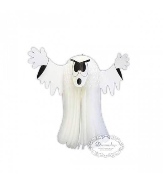 Spøgelse dekoration. Hvidt væv 22,5 cm