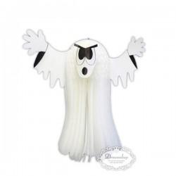 Spøgelse pynt i hvidt væv 36 cm
