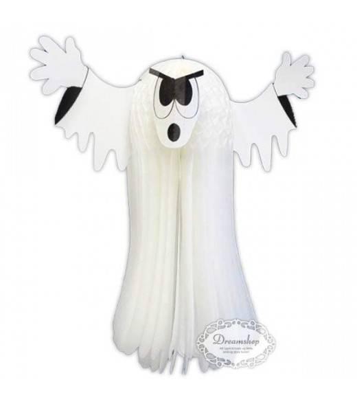Spøgelse pynt hvidt væv 76 cm