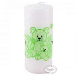 Bloklys bamser limegrøn 5 x 12 cm. 1 Stk