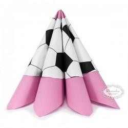 Runde fodbold servietter til pige