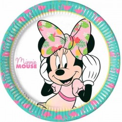 Tallerken Minnie Mouse Tropical 23 cm