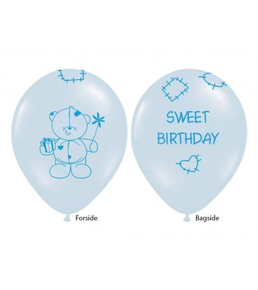 Lyseblå ballon sweet birthday