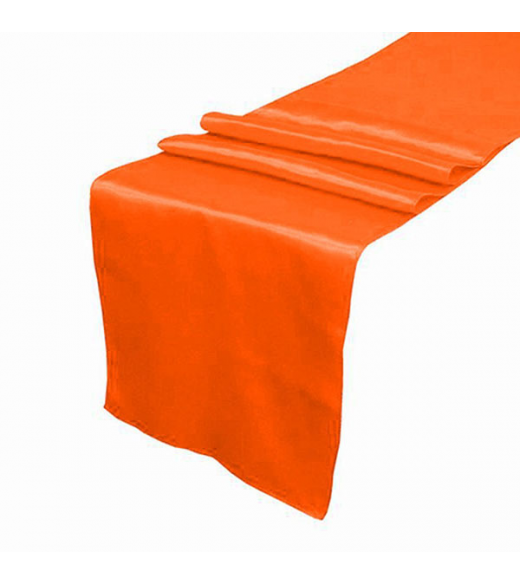 Orange satin bordløber