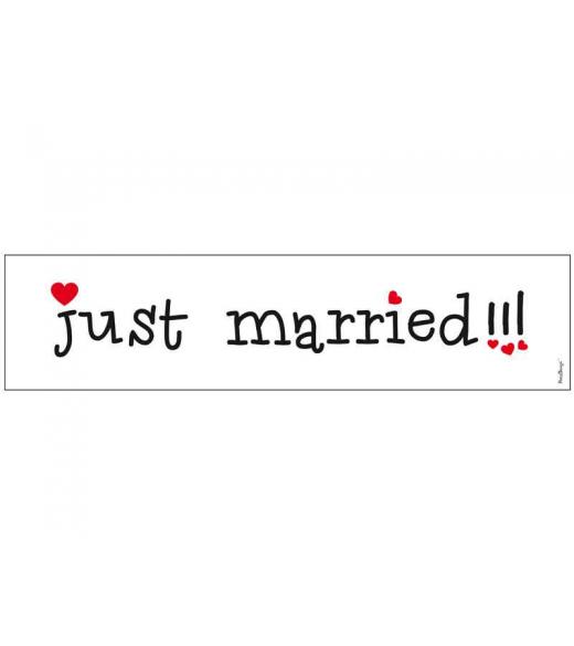 Nr plade skilt just married !!!
