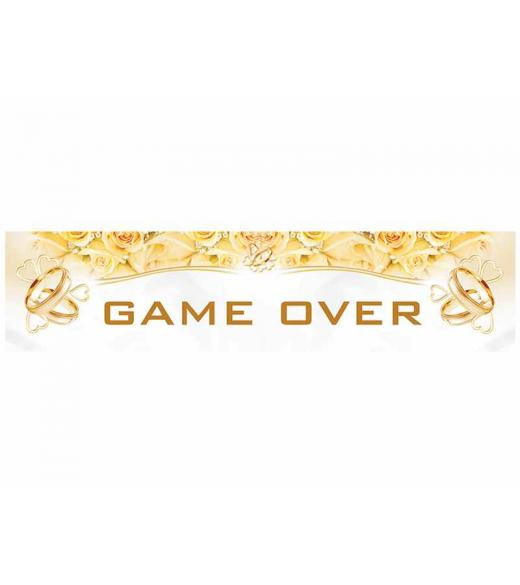 Nr plade skilt Game over
