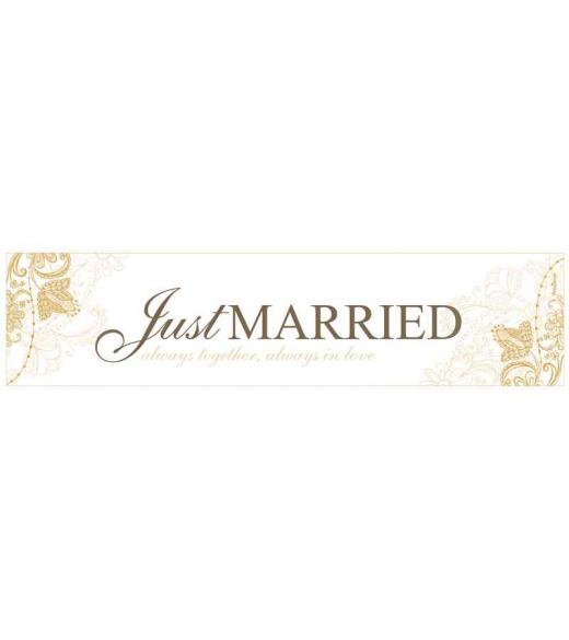 Nr plade skilt Just Married