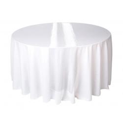 Hvid organza bordløber