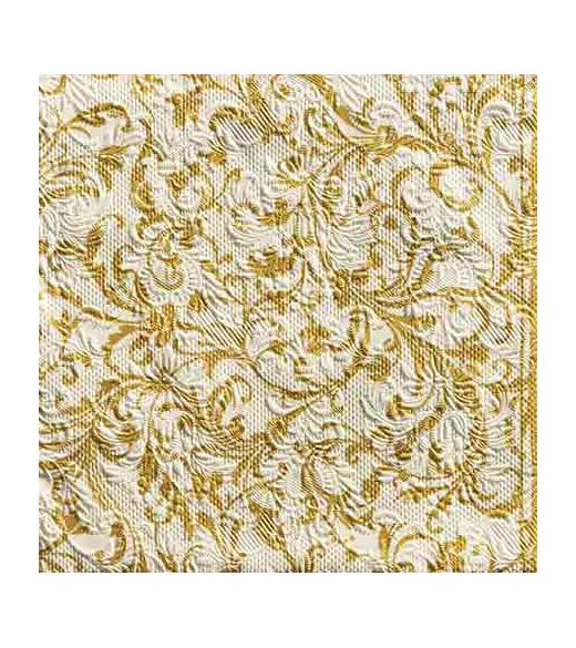 Frokostserviet Elegance damask guld