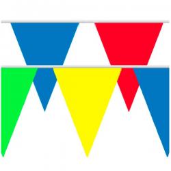 Multi farvet flagbanner stor 10 m
