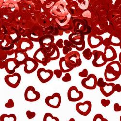 Rød hjerte konfetti 15 g