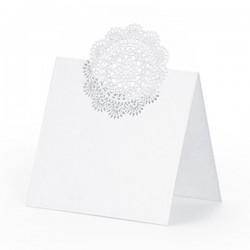 Hvide glaskort Rosette