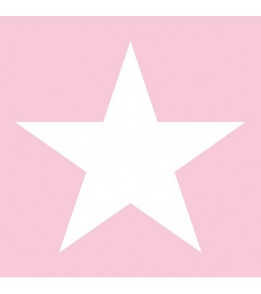 Kaffeserviet Star light lyserød