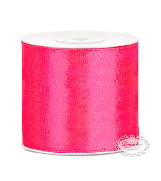 Pink Satinbånd 50 mm x 25 meter