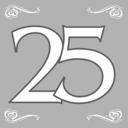 Sølv servietter 25