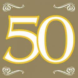 Guld servietter 50