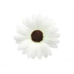 Hvide Marguerit Silkeblomster. 24 stk